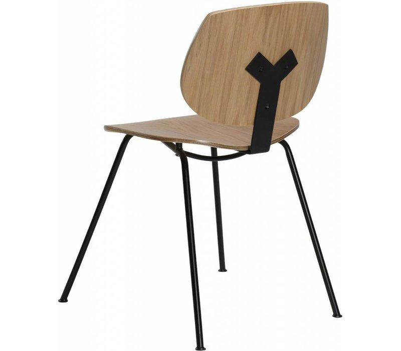 Prime stoel eiken / zwart