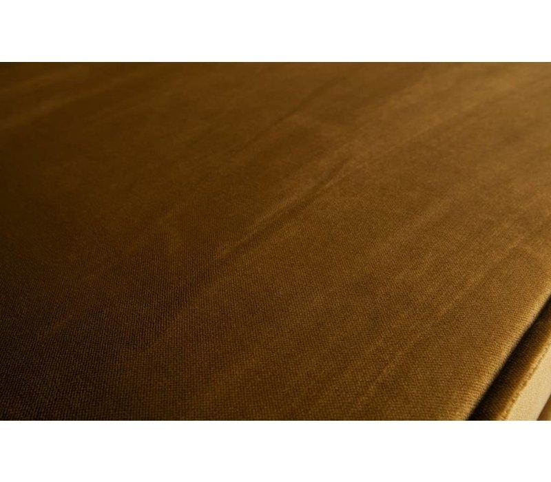 Rodeo bank 3-zits Velvet Honing Geel
