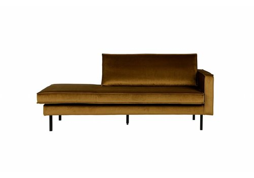 BepureHome Rodeo Daybed Right Velvet Honing Geel