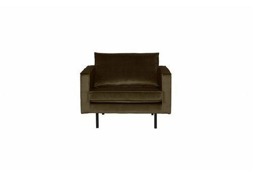 BepureHome Rodeo Fauteuil Velvet Dark green Hunter