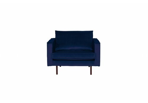 BepureHome Rodeo Fauteuil Velvet Dark Blue Nightshade