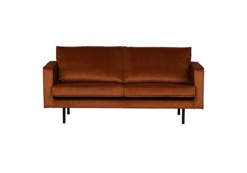 BepureHome Rodeo Bank 2,5-zits Velvet Roest