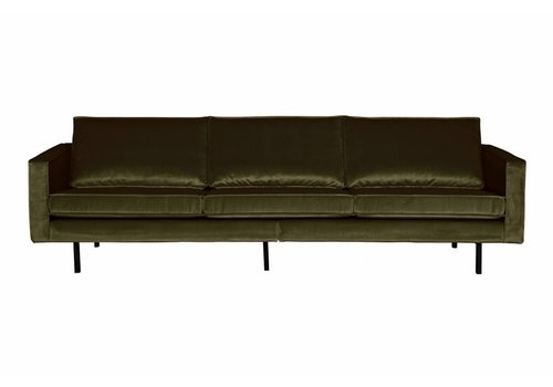 BepureHome Rodeo Bank 3-zits Velvet Dark Green Hunter