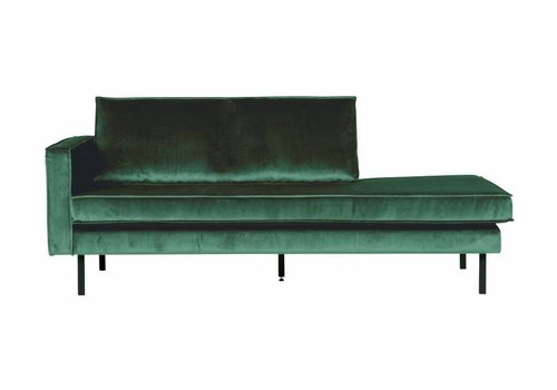 BepureHome Rodeo Daybed Left  Velvet Green Forest