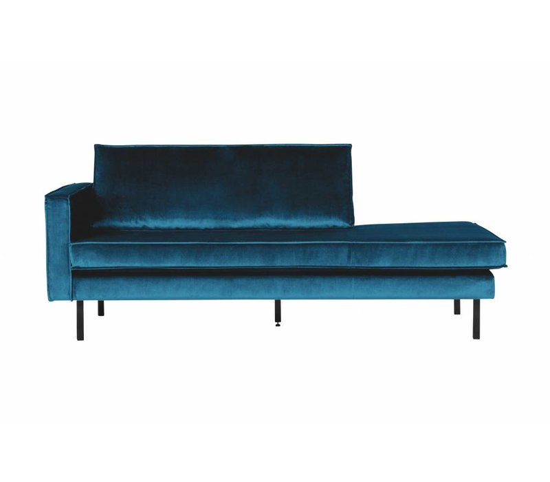 Rodeo Daybed Left  Velvet Blue