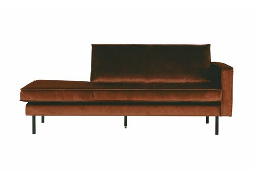 BepureHome Rodeo Daybed Right Velvet Roest