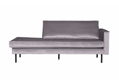 BepureHome Rodeo Daybed Right Velvet Light Grey