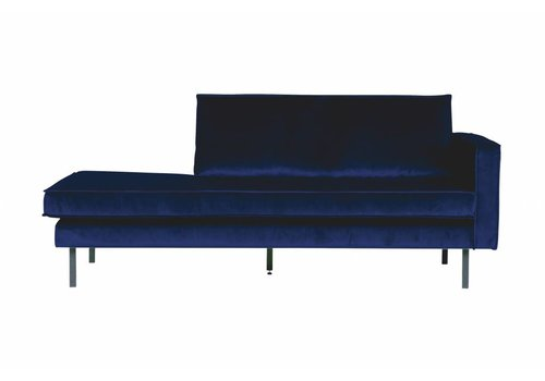 BepureHome Rodeo Daybed Right Velvet Dark Blue Nightshade