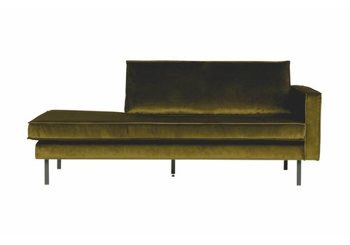 BepureHome Rodeo Daybed Right Velvet Olive