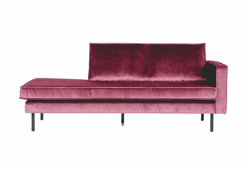 BepureHome Rodeo Daybed Right Velvet Pink