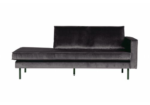 BepureHome Rodeo Daybed Right Velvet Antraciet