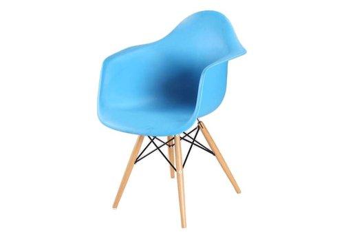Webmeubels DAW replica kuipstoel blauw met beuken