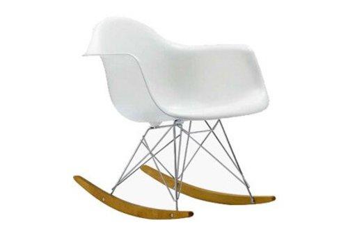 Webmeubels RAR replica schommelstoel wit verchroomd