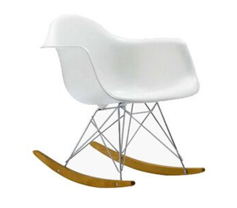 RAR replica schommelstoel wit verchroomd