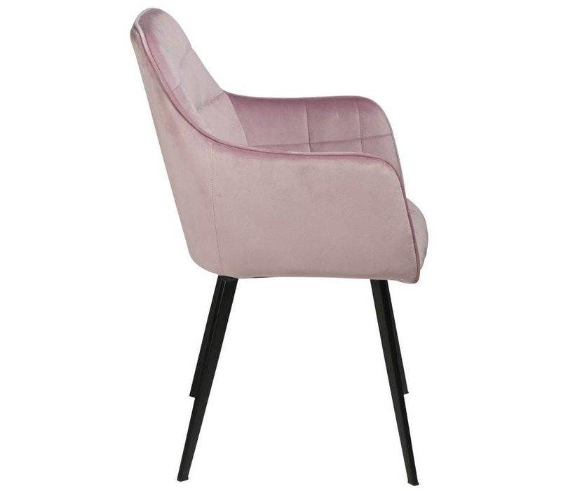 Embrace stoel Poederroze Fluweel