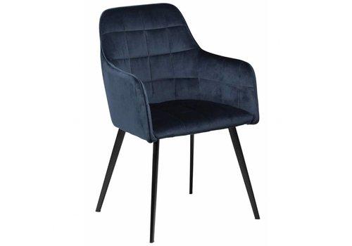 DAN-FORM Embrace stoel Blauw Fluweel