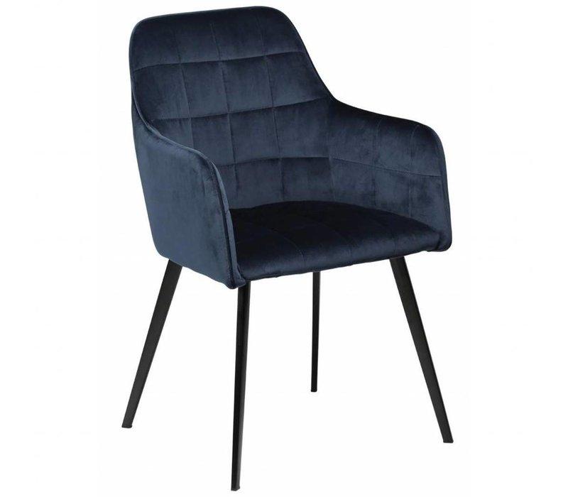 Embrace stoel Blauw Fluweel