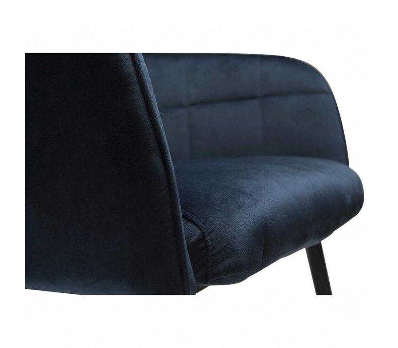 Embrace Loungefauteuil Blauw Fluweel