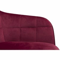Embrace Loungefauteuil Robijnrood Fluweel
