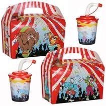 Lunchbox mit Trinkbecher Zirkus 100Stk