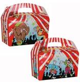 Lunchbox mit Trinkbecher Zirkus 100Stk €0,70p.Stk. / Beim Kauf von 300Stk. €0,63 pro Stück