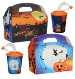 Lunchbox mit Trinkbecher Halloween 100Stk. €0,71p.Stk. / Beim Kauf von 300Stk. €0,64 pro Stück