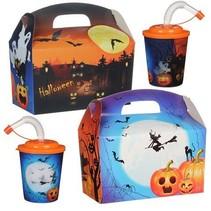 Lunchbox mit Trinkbecher Halloween 100Stk.