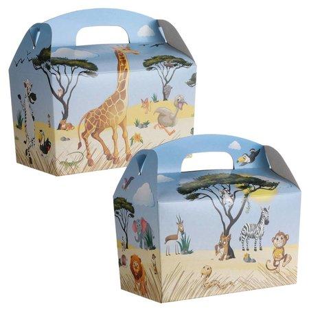 Lunchbox Dschungeltiere mit Kuscheltiere-Mix 50Stk.