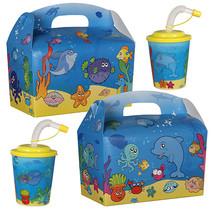 Lunchbox mit Trinkbecher Fische 100Stk.