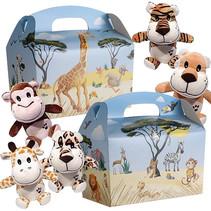 Lunchbox Dschungeltiere mit Kuscheltiere 50Stk.