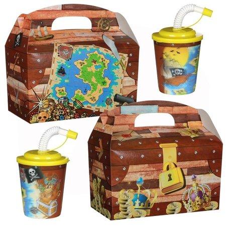 Lunchbox mit Trinkbecher Schatzkiste/Pirat 100Stk €0,70p.Stk. / Beim Kauf von 300Stk. €0,63 pro Stück