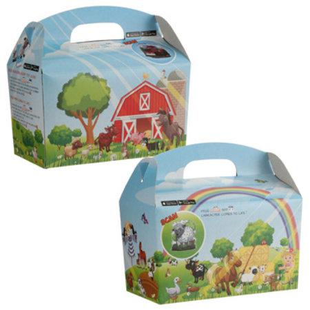 Interaktive Bauernhof Lunchbox 100Stk. €0,40p.Stk. / Beim Kauf von 300Stk. €0,34 pro Stück