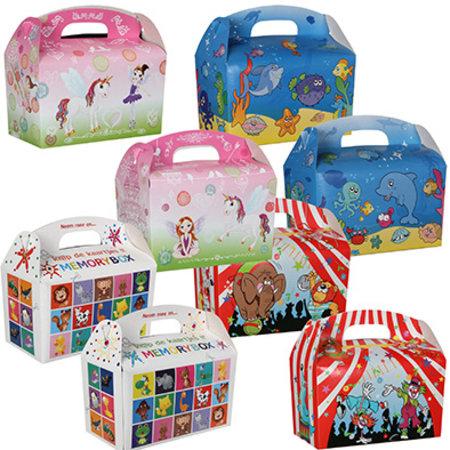 Lunchbox mix Unicorn, Coolkids, Memory & Fische 100Stk. €0,36p.Stk. / Beim Kauf von 400Stk. €0,30p.Stk / Beim Kauf von  600Stk. €0,28p.Stk.