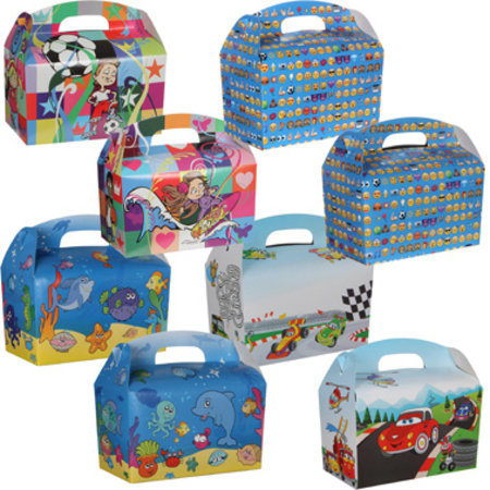 Lunchbox Mix  Coolkids, Emoji, Fische & Car 100Stk. €0,36p.Stk. / Beim Kauf von 400Stk. €0,30p.Stk / Beim Kauf von  600Stk. €0,28p.Stk.