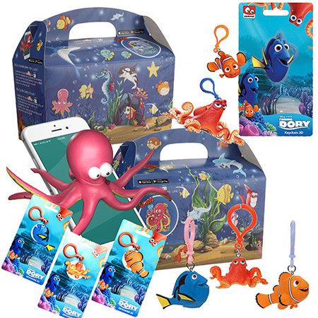 Interaktive Ozean Lunchbox mit Dory Schlüsselbund 48Stk.