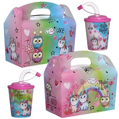 Lunchbox mit Trinkbecher Dreamgirls 100Stk. €0,70p.Stk. / Beim Kauf von 300Stk. €0,63 pro Stück