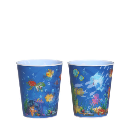 Trinkbecher Ozean ohne Deckel und Strohhalm 100Stk. €0,36p.Stk. / Beim Kauf von 500Stk. €0,34p.Stk.