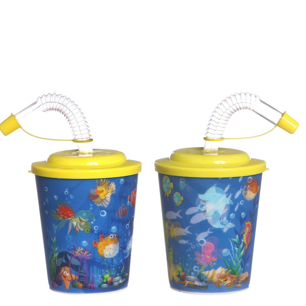 Trinkbecher Ozean mit Deckel und Strohhalm 100Stk. €0,40p.Stk. / Beim Kauf von 500Stk. €0,38p.Stk.