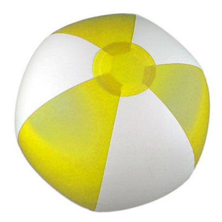 Aufblasbarer Wasserball Streifen gelb 24cm 50Stk.