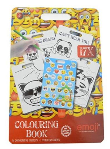 Malblock mit Aufklebern Emoji 30cm 60Stk.