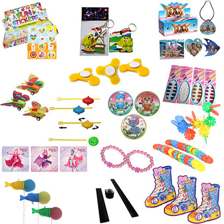 Spielzeug im Überraschungsmix 1250Stk. €0,17p.Stk. / Beim Kauf von 2x1250Stk. €0,15 pro Stück