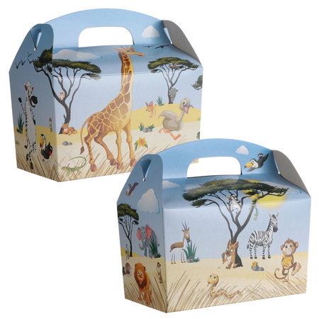 Menübox für Kinder Bauernhof, Dschungeltiere & Poolparty mit Spielzeug 300Stk.
