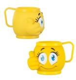 Eisbecher mit Henkel Mix mit Emoji 3 Farbe 36Stk. €1.05p.Stk. / Beim Kauf von 144Stk. €0,99p.Stk.