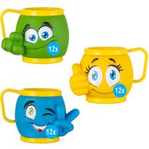 Eisbecher Mix Emoji 3 Farbe 36Stk.