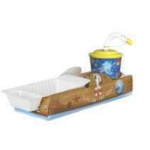 Offene Lunchbox mit Trinkbecher Boot 100Stk.