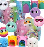 Menübox für Kinder Dreamgirls mit Cuty Cuty Plüschtier in Box 50Stk.