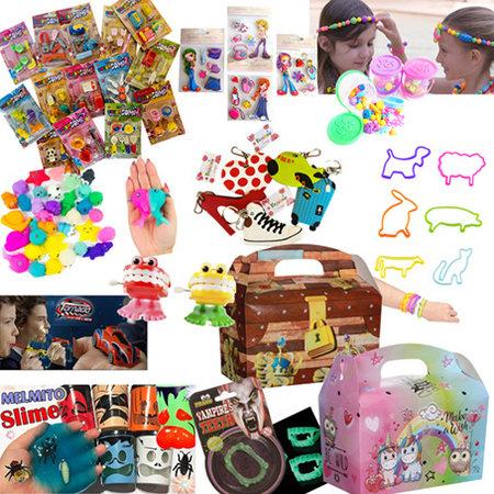 Menübox für Kinder Dreamgirls & Schatzkiste/Pirat mit Spielzeug 100Stk.