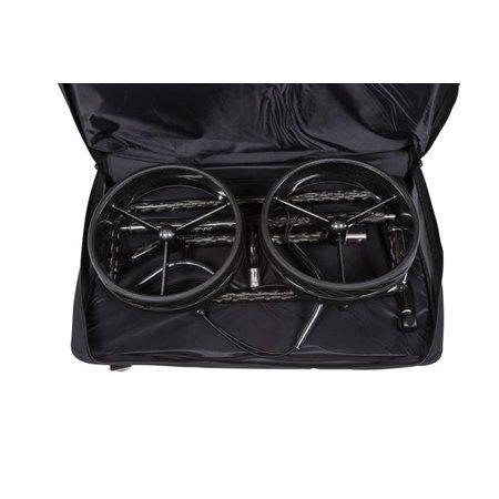 JuCad Carbon 3-wiel (Zwart-Zilver)