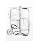JuStar Silver 3-wheel pushtrolley