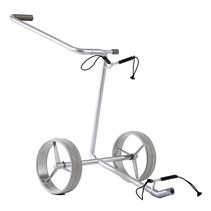 Silver 2-wheel pushtrolley